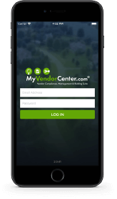 iPhone with MyVendorCenter app